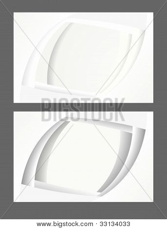 white paper business cards