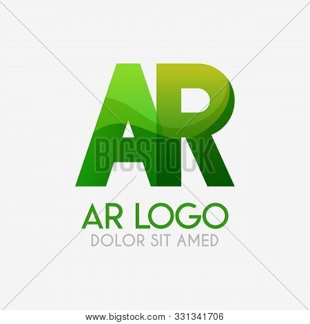 The Ar Logo With Striking Colors And Gradations, Modern And Simple For Industrial, Retail, Business,