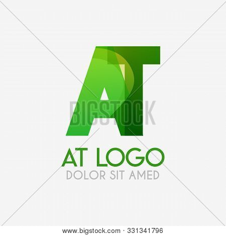The At Logo With Striking Colors And Gradations, Modern And Simple For Industrial, Retail, Business,