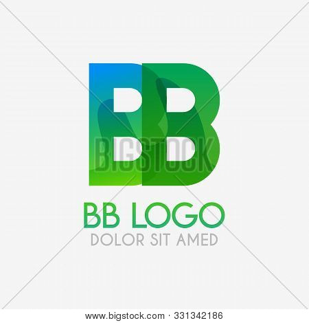 The Bb Logo With Striking Colors And Gradations, Modern And Simple For Industrial, Retail, Business,