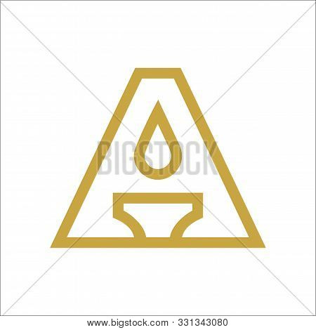 Letter A And Candle Logo Template, Ellegant Flame Icon, Simple Line Torch Logo Design