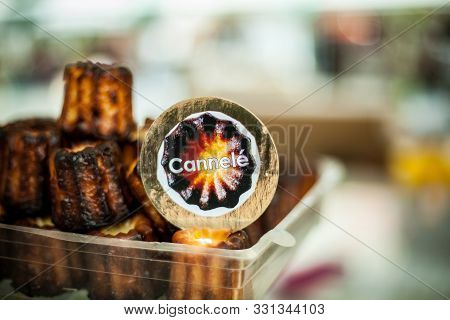 Cinammon Flavored French Bakery Dessert With Blurry Background