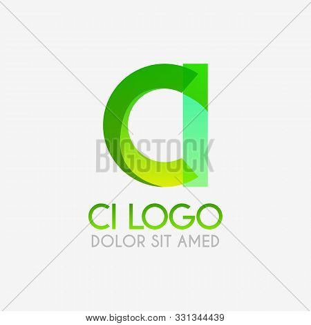 The Ci Logo With Striking Colors And Gradations, Modern And Simple For Industrial, Retail, Business,