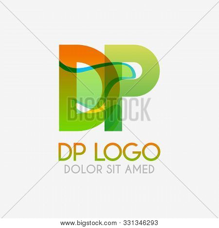 The Dp Logo With Striking Colors And Gradations, Modern And Simple For Industrial, Retail, Business,
