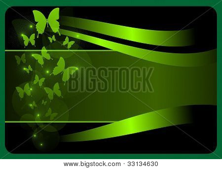 gift card with butterflies