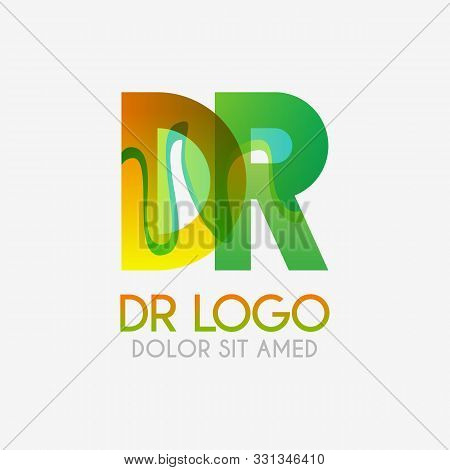 The Dr Logo With Striking Colors And Gradations, Modern And Simple For Industrial, Retail, Business,