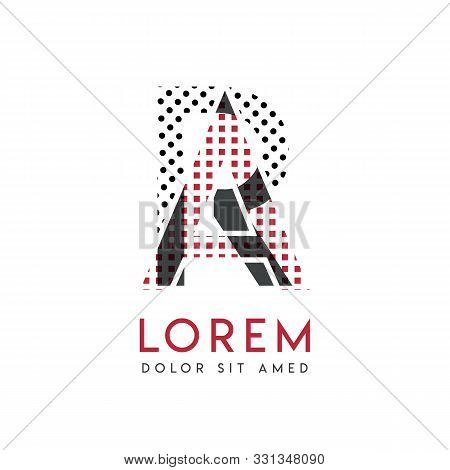 Ra Logo With Gray And Red Color That Can Be Used For Creative Industries And Paper Printing. Ar Logo