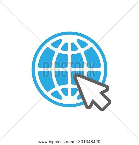 Web Icon. Website Pictogram. Internet Symbol Isolated On White Background. Flat Style. Vector Illust