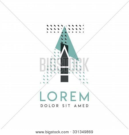 Ta Modern Logo Design With Gray And Blue Color That Can Be Used For Creative Industries And Paper Pr