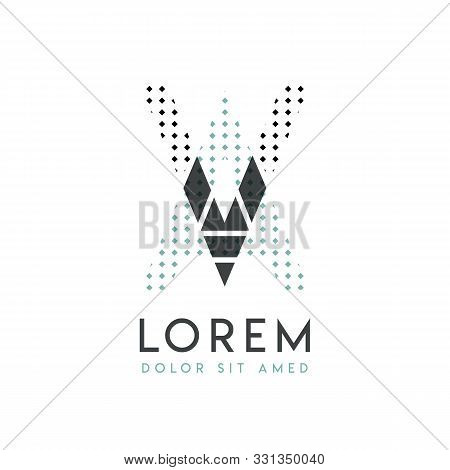 Va Modern Logo Design With Gray And Blue Color That Can Be Used For Creative Industries And Paper Pr