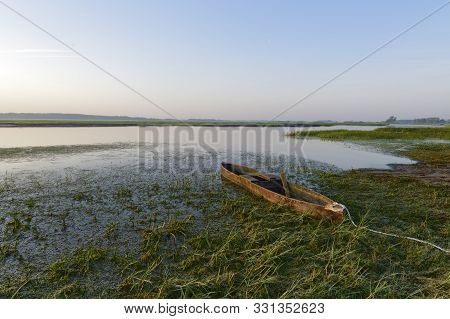 Canoe In Biebrza National Park, Poland