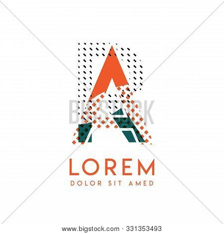 Ra Modern Logo Design With Orange And Green Color That Can Be Used For Creative Business And Adverti