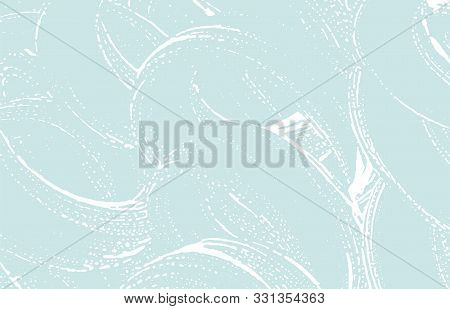 Grunge Texture. Distress Blue Rough Trace. Creative Background. Noise Dirty Grunge Texture. Valuable