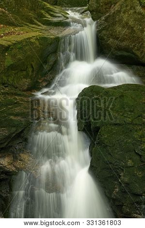 Maly Falls In Super Green Forest Surroundings, Czech Republic