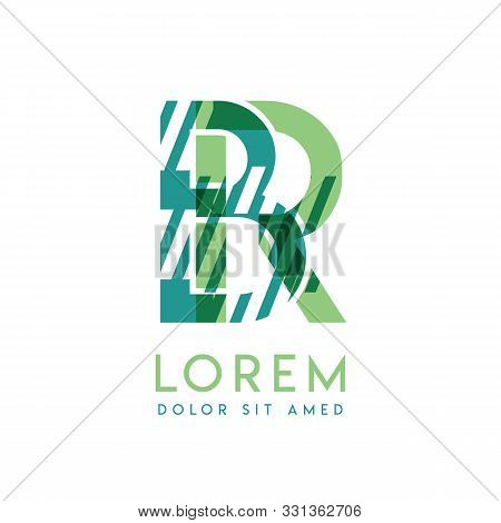 Rb Luxury Logo Design With Green And Dark Green Color That Can Be Used For Creative Business And Adv