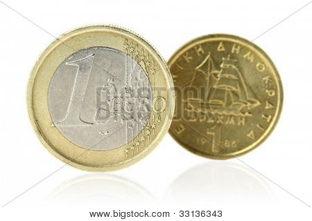 Euro or Drachma poster