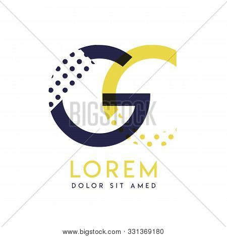 Gc Simple Logo Design With Yellow And Purple Color That Can Be Used For Creative Business And Advert