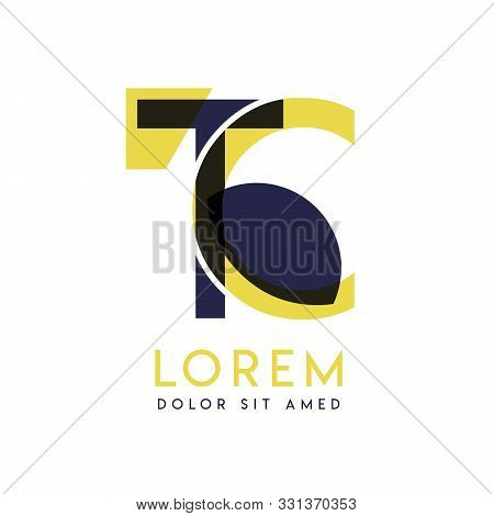 Tc Simple Logo Design With Yellow And Purple Color That Can Be Used For Creative Business And Advert