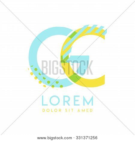 Gc Natural Logo Design With Yellow And Ocean Blue Color That Can Be Used For Creative Business And A