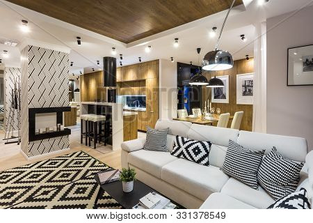 Minsk, Belarus - September, 2019: Interior Of The Modern Luxure Vip Guestroom In Studio Apartments I