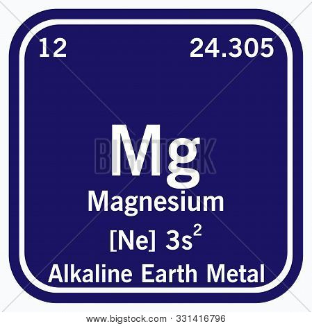 Magnesium Periodic Table Of The Elements Vector Illustration Eps 10.