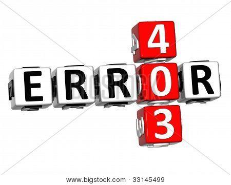 3D Error 403 Crossword