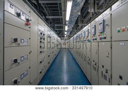Electrical Switch Gear Room Located In Hazardous Area, Electrical Switch Board Of High Voltage And L