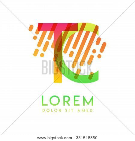Tc Logo With The Theme Of Galaxy Speed And Style That Is Suitable For Creative And Business Industri