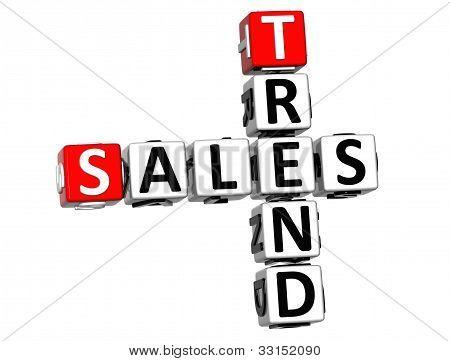 3D Sales Trend Crossword