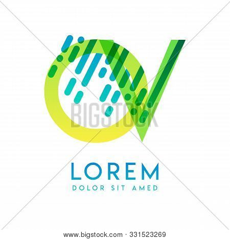 Ov Logo With The Theme Of Galaxy Speed And Style That Is Suitable For Creative And Business Industri