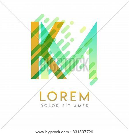 Km Logo With The Theme Of Galaxy Speed And Style That Is Suitable For Creative And Business Industri