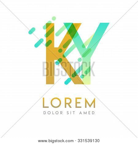 Ky Logo With The Theme Of Galaxy Speed And Style That Is Suitable For Creative And Business Industri