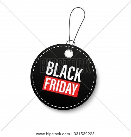 Black Friday Sales Tags And Labels, Template Shopping Labels. Blank, Discount And Price Tags On Pape
