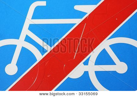 Prohibition for bicycles