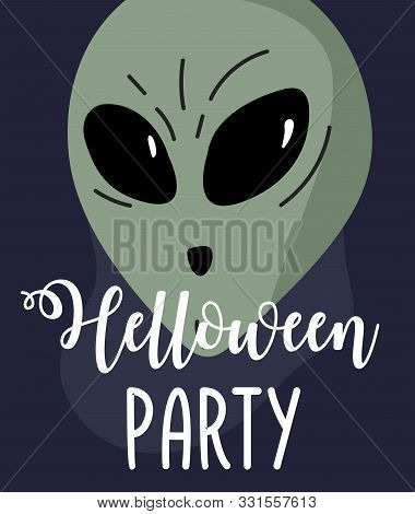 Halloween Background. Helloween Greeting Card Or Poster, Party Sign. Concept Illustration With Sign