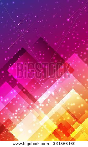 Futuristic Modern Abstract Vertical Background. Geometric Graphic Design Pattern Poligonal Shape Pur