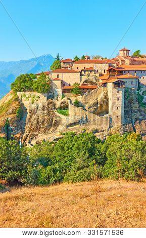 The Monastery of Great Meteoron in Meteora, Greece