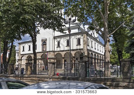 Nis, Serbia - June 15, 2019: Holy Trinity Orthodox Cathedral Church At The Center Of City Of Nis, Se