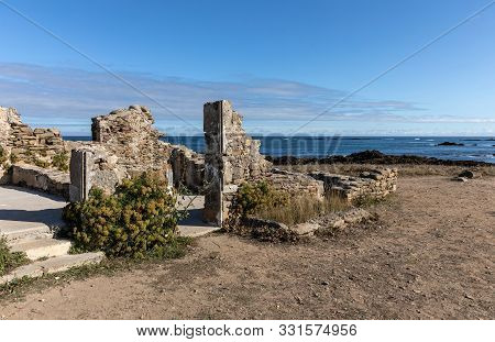 Ruins Of The Watchman Housing At The Pointe Du But On The Yeu Island (vendee, France)