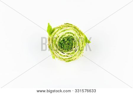 Peking Cabbage On A White Background. White Beijing Cabbage. Permanent Manager Of Fresh, Dietary Gre