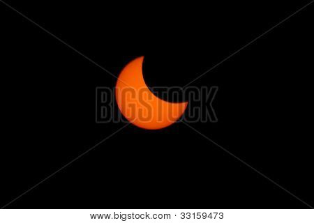 Tokyo, Japan - May 21: Annular eclipse