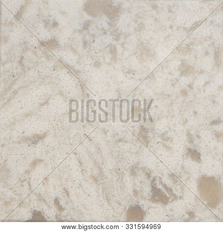 White Quartz Surface White For Bathroom Or Kitchen Countertop. High Resolution Texture And Pattern.