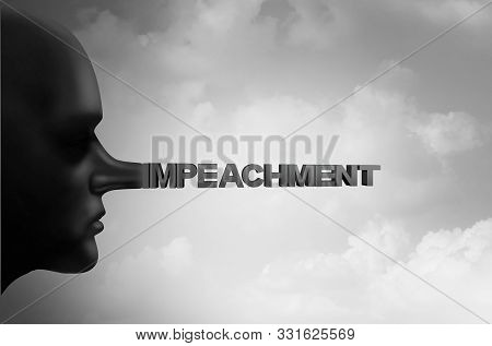 Impeachment And Impeach Concept Or Political Impeaching Of A President Using Fraudulent Tactics As A