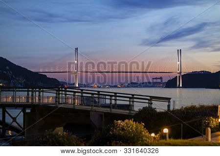 View Of Megami Ohashi Bridge From Nagasaki Seaside Park