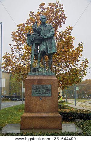 Sculpture Of Georg Raphael Donner In Vienna Austria 05 November 2018