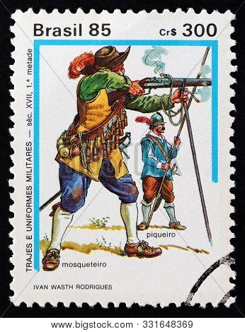 Brazil - Circa 1985: A Stamp Printed In Brazil From The