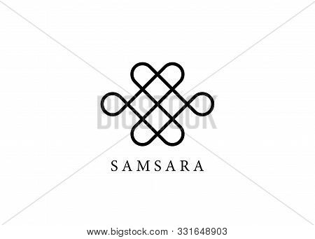 Samsara Icon. Guts Of Buddha, The Bowels Of Buddha. The Endless Knot Or Eternal Knot, Happiness Node
