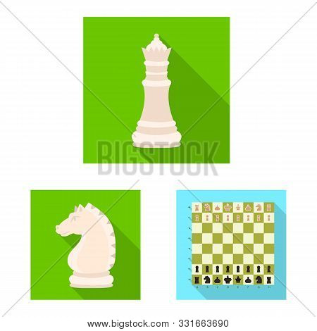 Isolated Object Of Checkmate And Thin Logo. Set Of Checkmate And Target Vector Icon For Stock.