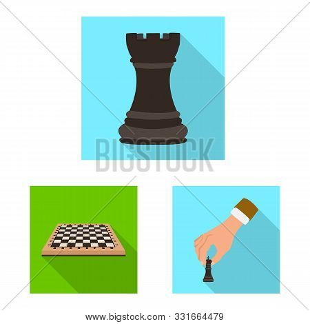 Vector Design Of Checkmate And Thin Logo. Set Of Checkmate And Target Vector Icon For Stock.
