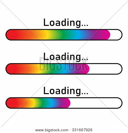 Loading Icon - Vector. Colorful Loading Icon Isolated. Color Vector Loading Line. Progress Loading B